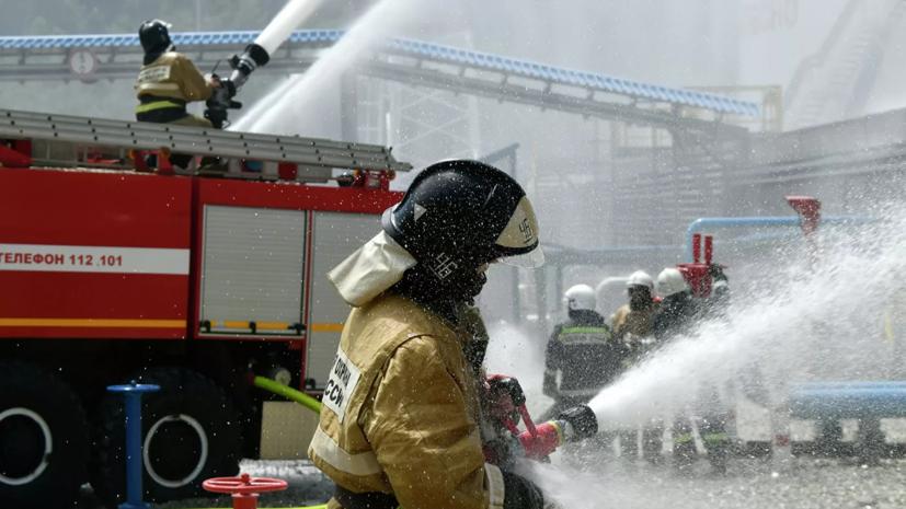 В Москве локализован пожар на складе на площади 1500 квадратных метров