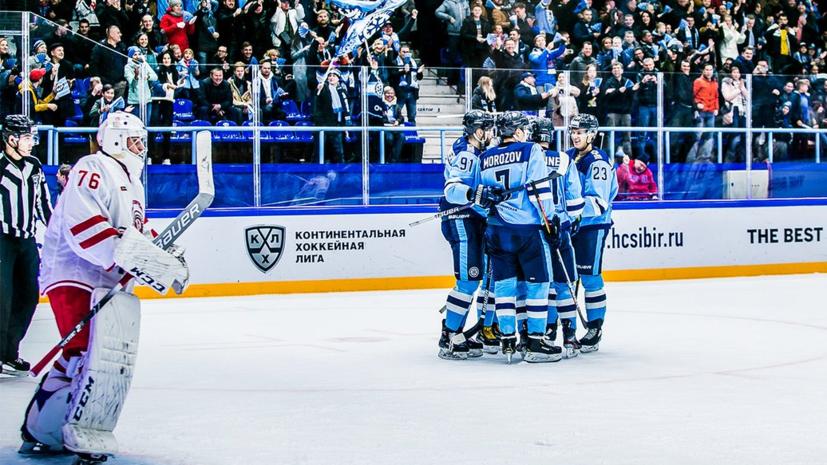 «Сибирь» одержала третью подряд победу в КХЛ, обыграв «Витязь»