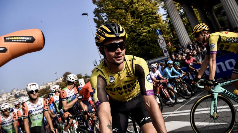 Роглич признан лучшим велогонщиком 2019 года в Мировом туре
