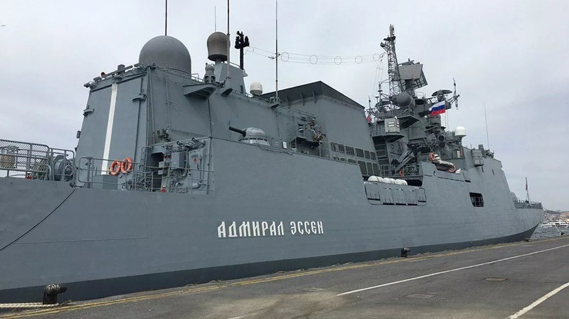 Фрегат ЧФ «Адмирал Эссен» провёл учения в море