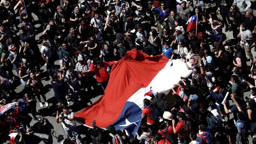 Число жертв беспорядков в Чили достигло 18 человек