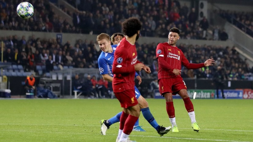 Дубль Окслейда-Чемберлена помог «Ливерпулю» обыграть «Генк» в Лиге чемпионов