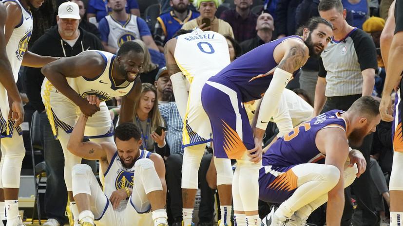 Звезда «Голден Стэйт» Карри сломал руку в матче НБА с «Финиксом»