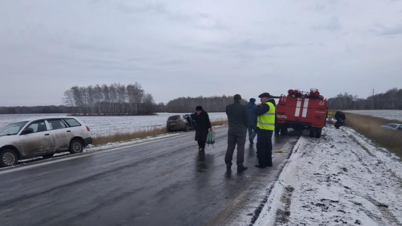 В Омской области два человека погибли и шестеро пострадали в ДТП