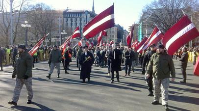 Марш памяти членов латышского легиона СС в Риге