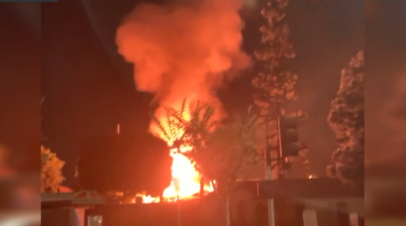 Момент взрыва трансформатора на Октоберфесте в США — видео