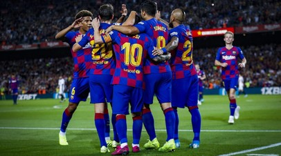 «Барселона» разгромила «Севилью» в восьмом туре Примеры