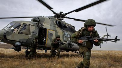 Российские военнослужащие на учениях