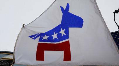 Флаг с символикой Демократической партии США