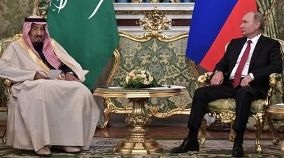 Встреча Владимира Путина с королём Саудовской Аравии Сальманом Бен Абдель-Азизом Аль Саудом