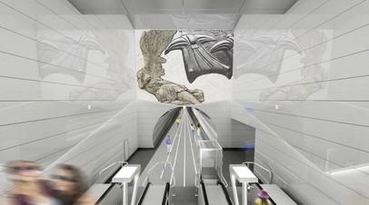 На станции «Авиамоторная» БКЛ установят композицию «Летающие люди»