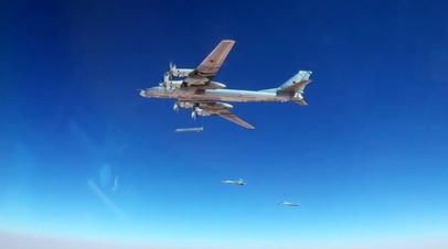 Нанесение удара авиационными ракетами по объектам террористов в Сирии