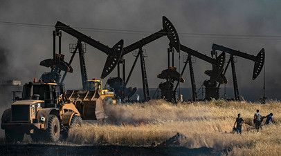 Добыча нефти близ сирийско-турецкой границы