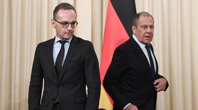 Лавров обсудил с главой МИД Германии ситуацию в Сирии