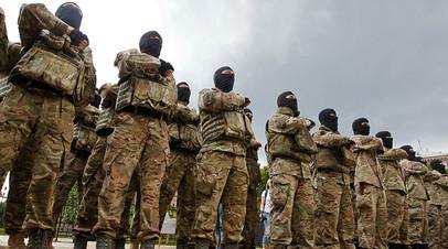 Архивное фото. Новобранцы батальона «Азов» во время присяги