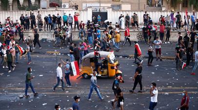 Число жертв протестных акций в Ираке возросло почти до 50