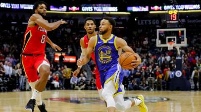 Дабл-дабл Карри помог «Голден Стэйт» обыграть «Нью-Орлеан» в матче НБА