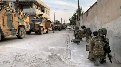 Турецкие солдаты во время военной операции в Сирии
