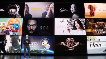 Тим Кук во время презентации Apple TV+