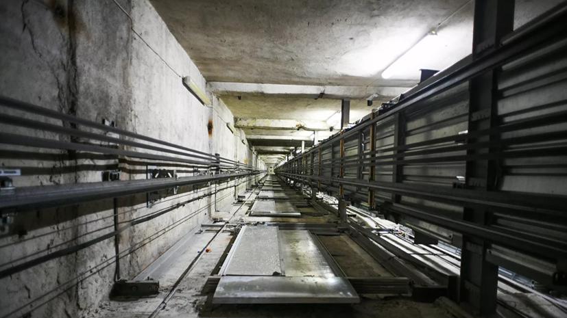 В горящем в центре Москвы жилом доме частично обрушилась шахта лифта