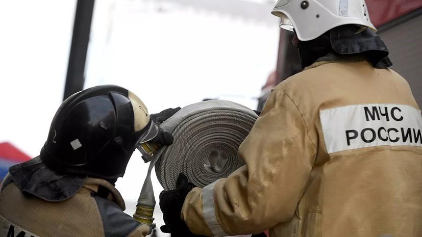 В Кемерове начали проверку после гибели человека при пожаре на складе