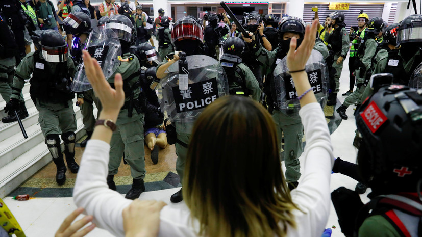 В Гонконге задержали более 300 человек за три дня протестов