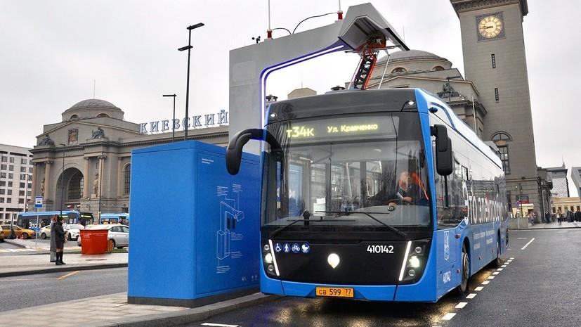 Электробусы в Москве запустили ещё по двум маршрутам