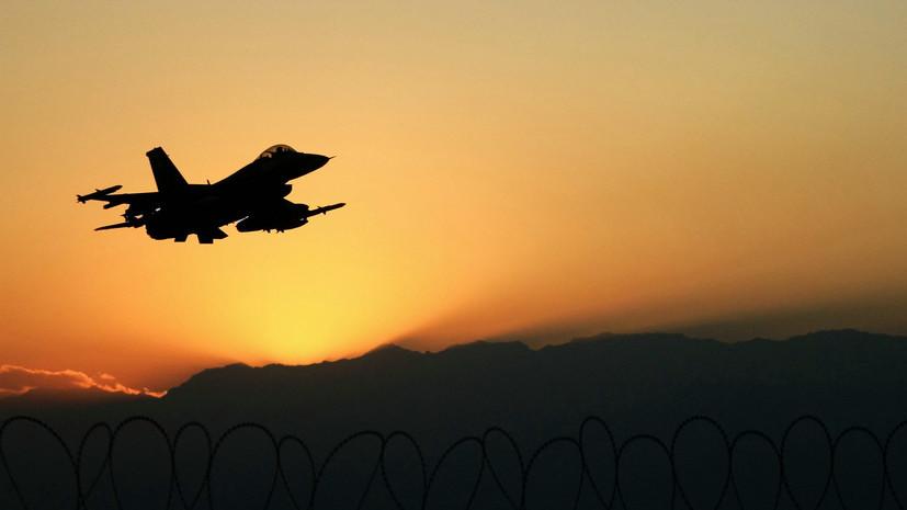Американский истребитель выронил учебную ракету в полёте над Японией
