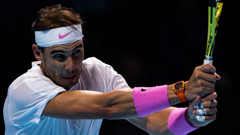 Надаль заявил, что Медведев играл лучше него в матче на Итоговом турнире ATP
