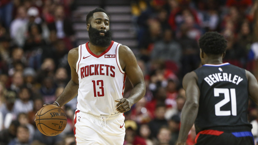 «Хьюстон» победил «Клипперс» в матче НБА, Харден набрал 47 очков