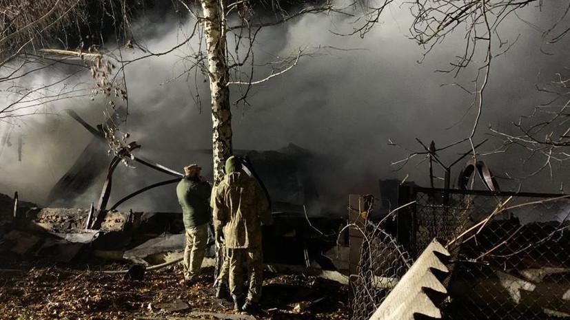 На Украине произошёл пожар на военном складе