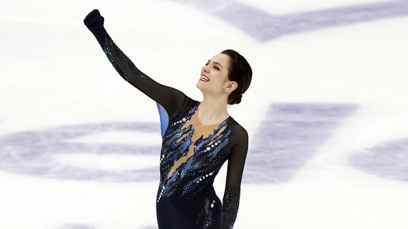 «Лучший прокат Жени в этом году»: что говорили после победы Медведевой в короткой программе на этапе Гран-при в Москве