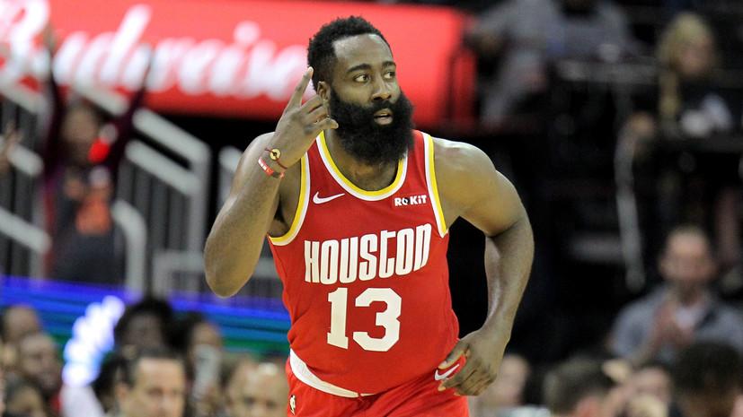 «Хьюстон» одержал шестую победу кряду в НБА, Харден набрал 44 очка