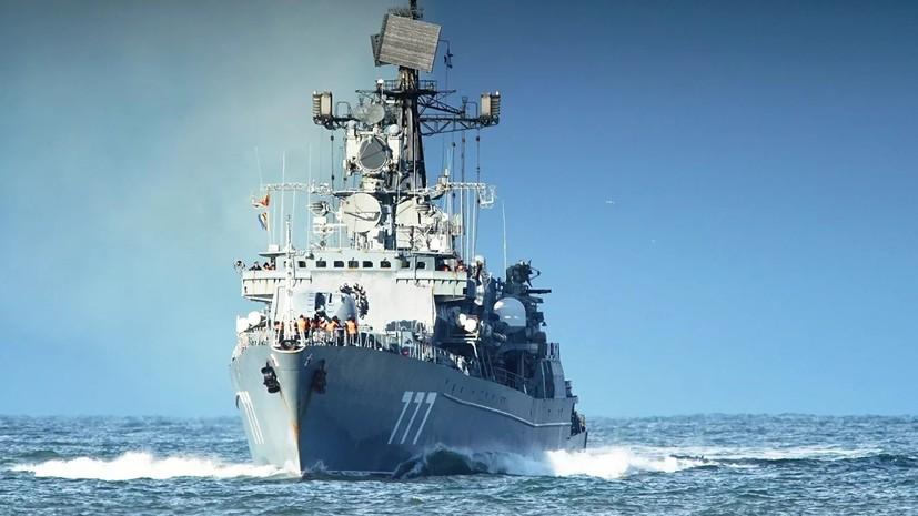 Отряд кораблей Балтфлота провёл учения в Средиземном море
