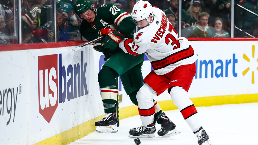 Шайба Свечникова принесла «Каролине» победу над «Миннесотой» в матче НХЛ