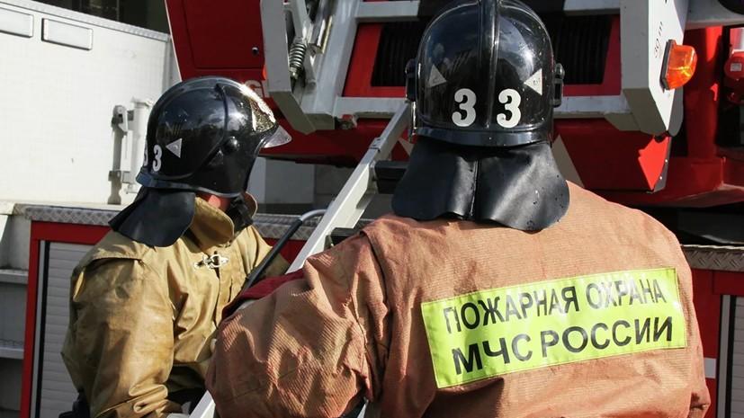 На северо-западе Москвы произошёл крупный пожар на складе