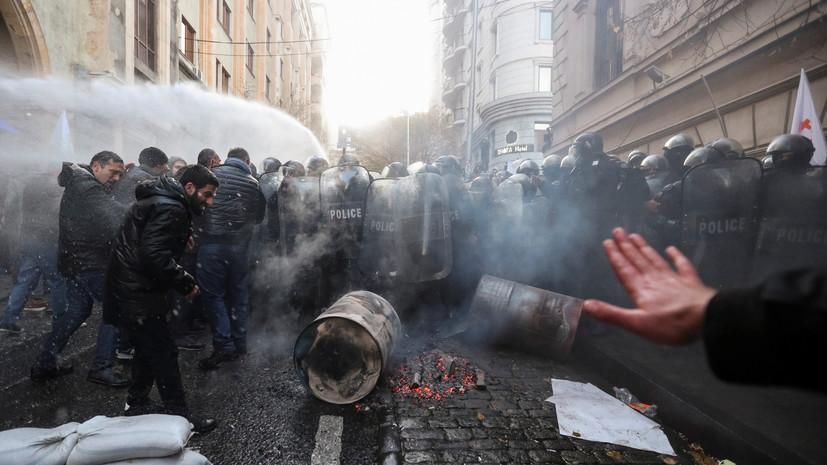 В Тбилиси задержали 18 человек в ходе разгона митинга у парламента