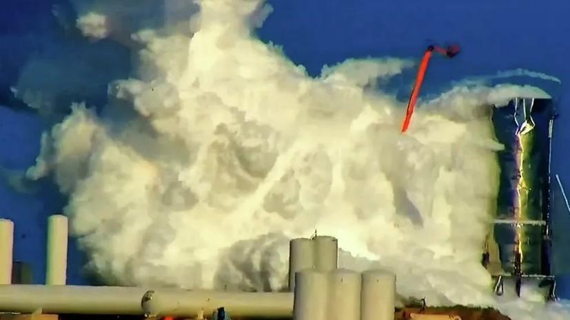 Прототип космического корабля SpaceX взорвался во время испытаний