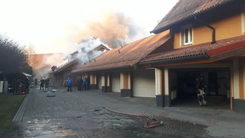 В районе Новой Москвы произошёл пожар площадью 1000 квадратных метров