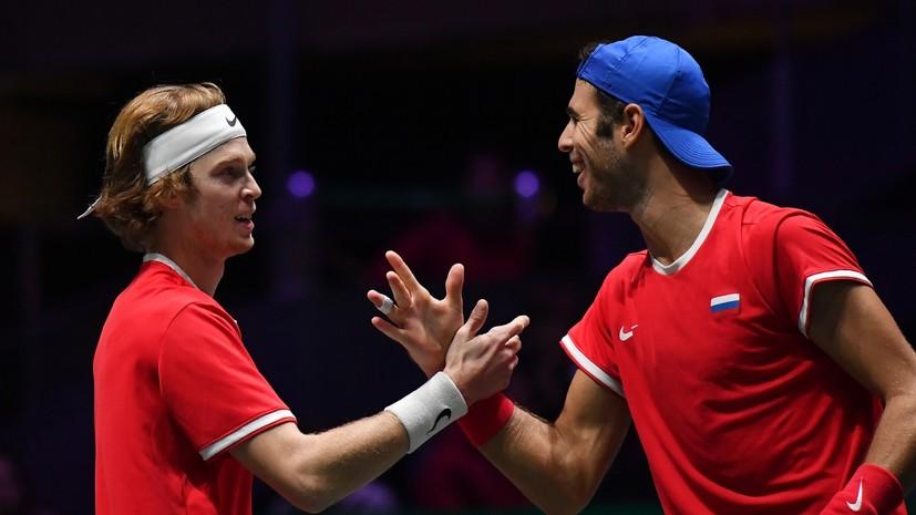 Выстояли против Джоковича: сборная России по теннису впервые за 11 лет вышла в полуфинал Кубка Дэвиса