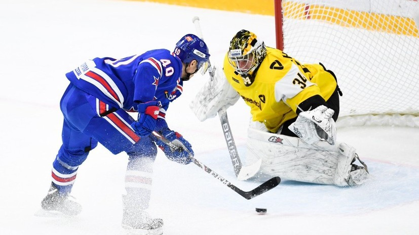 СКА одержал пятую подряд победу в КХЛ, обыграв «Северсталь»