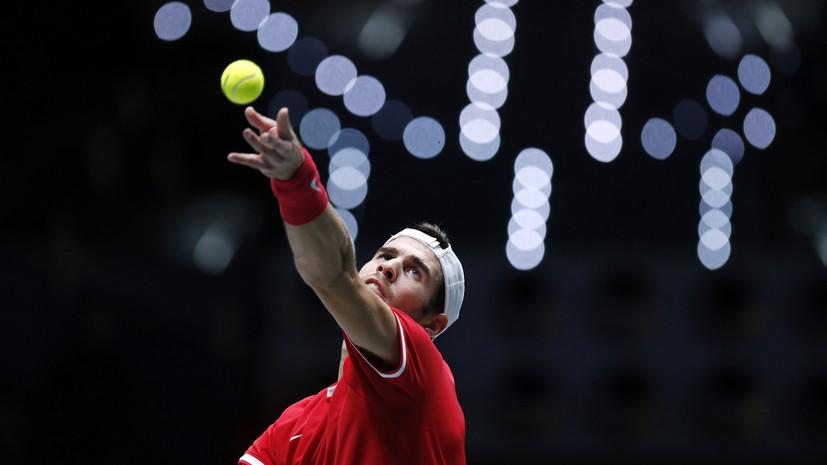 Хачанов проиграл Шаповалову в полуфинале Кубка Дэвиса с Канадой
