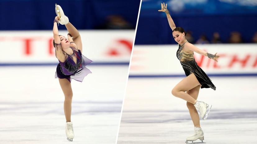 «Косторная — эталон женского катания»: в России восхитились выступлением учениц Тутберидзе на этапе Гран-при в Японии