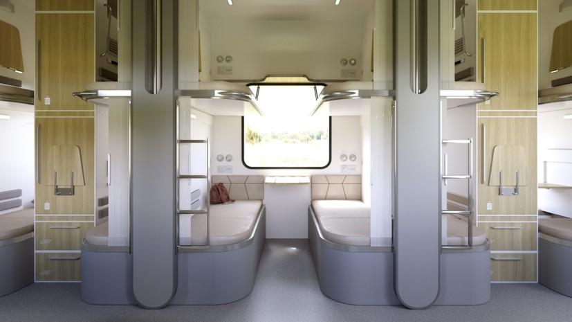 Представлены концепты новых плацкартных вагонов