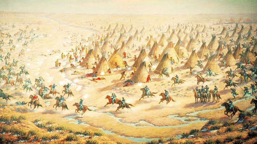 Бойня на Сэнд-Крик: как американские военные напали на индейских мирных жителей в Колорадо
