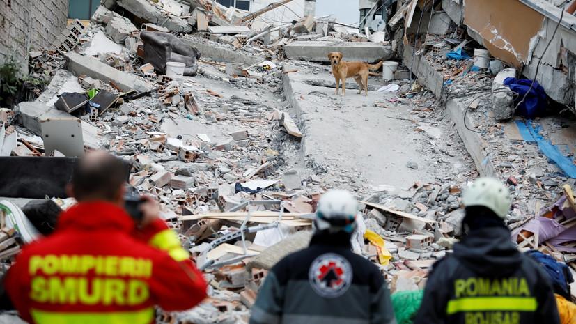 Число жертв землетрясения в Албании возросло до 40