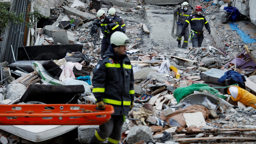 Число жертв землетрясения в Албании увеличилось до 48