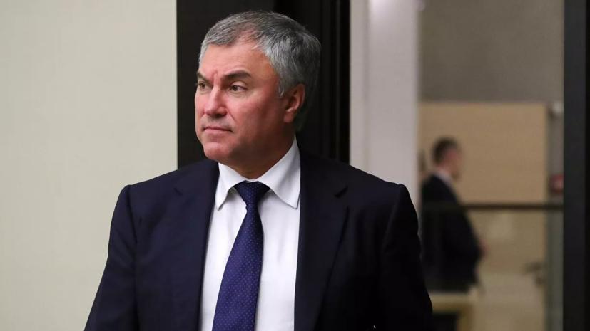 Володин прокомментировал поведение делегации Украины в Женеве