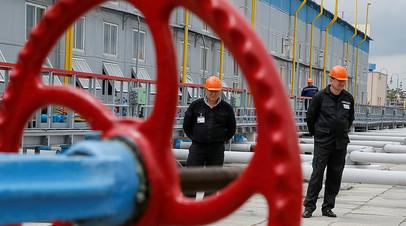 Объект газотранспортной инфраструктуры Украины в районе Полтавы