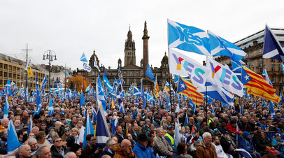 Митинг сторонников независимости Шотландии